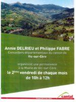 affiche permanence Annie DELRIEU